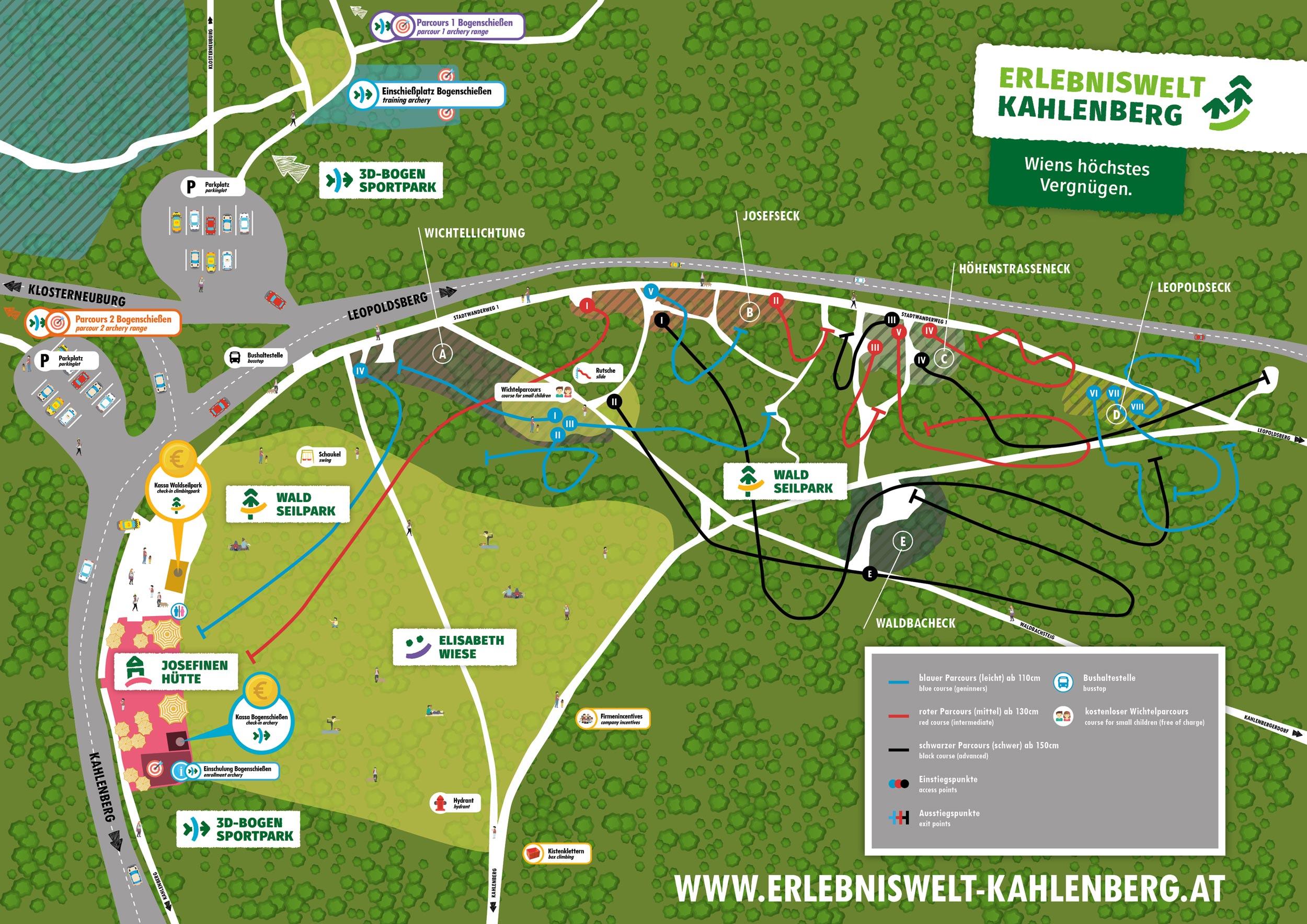 Willkommen im Waldseilpark Kahlenberg!